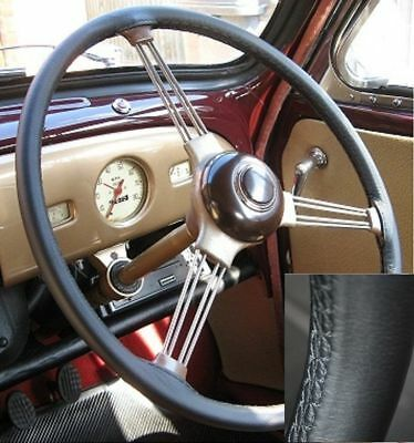 For Vw Beetle 1953 1971 Top Quality Italian Leather Steering Wheel Cover Black