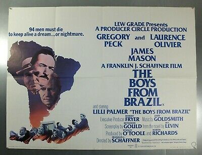 The Boys From Brazil - Gregory Peck / Laurence Olivier - Original Uk Quad Poster