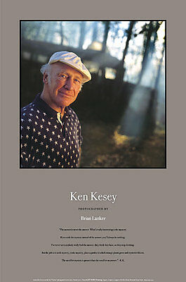 KEN KESEY with FURTHUR poster GEORGIOUS w famous QUOTE