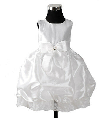New Christening Wedding Party Pageant Dress in Ivory,Burgundy 6 to 24 Months