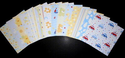 "Scrapbooking  Papers x 15*** *BABY BOY****  15cm x 15cm (6"" x 6"")"