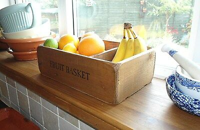 (NEW) Old Country Farmhouse~Fruit Basket / Bowl~Size (M) ~Rustic~Kitchen~Wooden