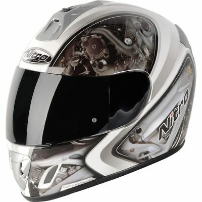 Nitro MECHINICA motorcycle motorbike scooter racing Full Face Crash Lid helmet