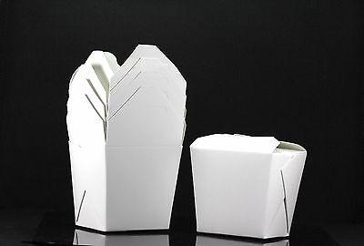10x, 8oz Chinese Take Out / To Go Boxes, Microwavable, Party Gift Boxes, White