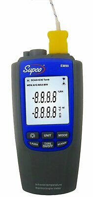 Supco EM90 Infrared and Thermocouple Thermometer -328 to 2372 Degree F