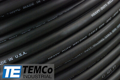 WELDING CABLE 3/0 BLACK 50' FT BATTERY LEADS USA NEW Gauge Copper AWG