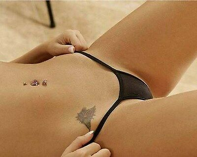 Women's Sexy Micro G-String Thong Mini Lingerie Panties Hot Size F NWT