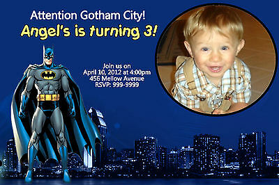 Custom Personalized Batman  24hr Service UPRINT 4x6 or 5x7