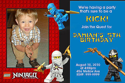 Custom Personalized Ninjago Lego  24hr Service UPRINT 4x6 or 5x7
