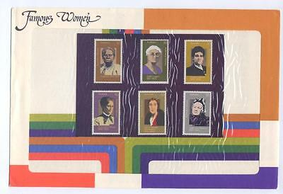 1975 Famous Women Stamp Pack