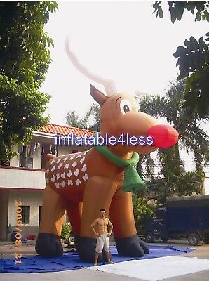 26' Inflatable Reindeer Christmas Holiday Decoration Ad Two-Week Delivery