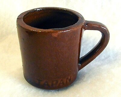Rustic Red Clay Shot Glass Shooter Sake Cup JAPAN Glazed Rough Red Ceramic 1-5/8