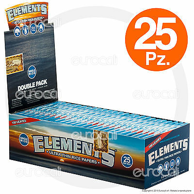 Cartine ELEMENTS Corte Doppie 25pz doppia Scatola