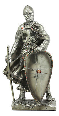 "Medieval Knight 7"" Tall Crusader Templar Guard Statue Figurine Suit Of Armor"