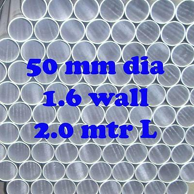 Galvanized Steel Round Tube Pipe Fence Post 50mm OS Dia  2.17 m Long Cheap!!!!!