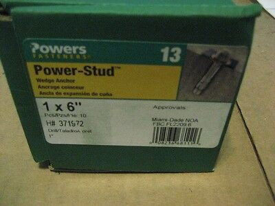 "Powers 07461 1"" X 6 Power Stud Wedge Anchor (Aa6182-10)"