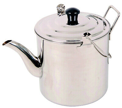 OZTRAIL 2800ml (2.8 LITRE) BILLY KETTLE STAINLESS TEA POT STEEL CAMPING