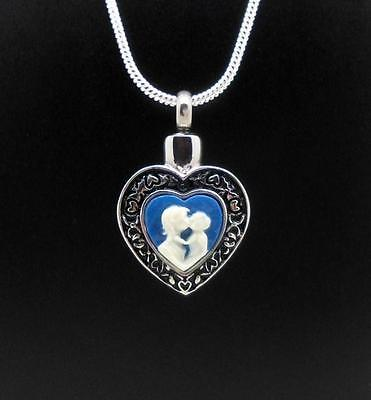 "316L Stainless ""Mother & Child"" Keepsake Cremation Urn Funeral Pendant Jewellery"