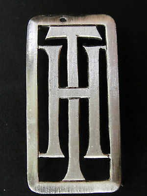 Monogrammes Argent Massif Ht Th Initiale Chiffre Solid Silver Monograms Art Deco
