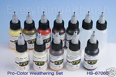Airbrush Paint- Pro Color - Weathering Set (Kit Of 12)