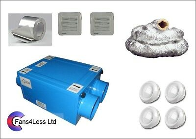 HRU100 Heat Recovery Ventilation Condensation 4 Room Complete Kit