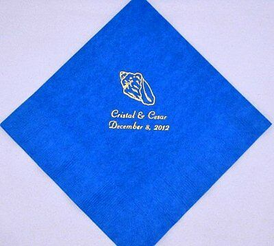 100 Personalized Luncheon Napkins Wedding favors custom printed graduation party