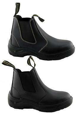 Woodlands Mens/womens Industrial Work Safety Boots/steel Toe/cap/non Slip Sole.