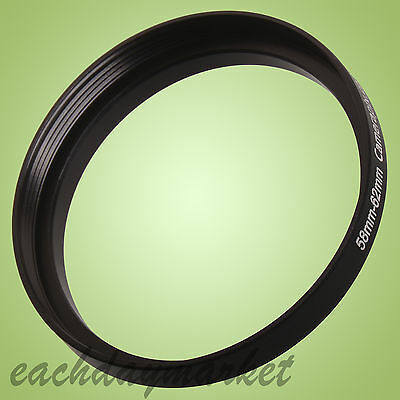 58mm to 62mm 58-62 58-62mm 58mm-62mm Stepping Step Up Filter Ring Adapter