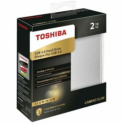 "Toshiba Canvio Basic 2TB 2.5"" USB 3.0 Portable External Hard Drive HDD Black"