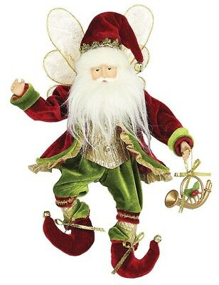 """12"""" Whimsical Christmas Holiday Flying Elf W/horn - Red/green E21202"""