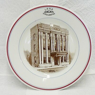 INDEPENDENT ORDER OF ODD FELLOWS ST PAUL LODGE #2 PLATE