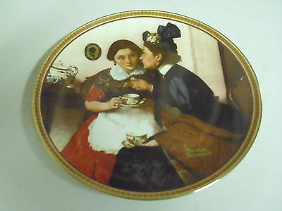 NORMAN ROCKWELL COLLECTOR PLATE GOSSIPING IN THE ALCOVE REDISCOVERED WOMEN