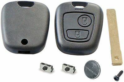 Repair KIT for Peugeot 307 2 button remote key case switches & battery