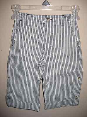 New With Tags Janie And Jack Roll Up Cotton Striped Cuff Pants Size 18-24 Months