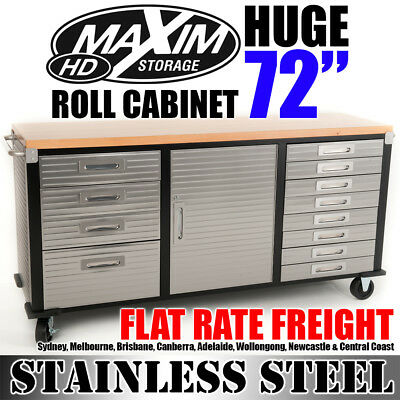 "MAXIM 72"" Roll Cabinet Toolbox Cabinet Workbench Chest Tool Box Storage Garage"