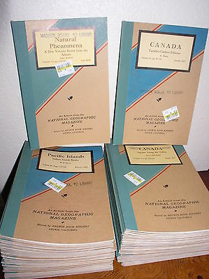 70 Selected Vintage Bound Articles from National Geographic Magazine(1944-1958)
