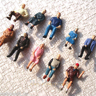 30 pcs All Seated Figures O scale 1:48 Painted People Sitting Passengers 10poses