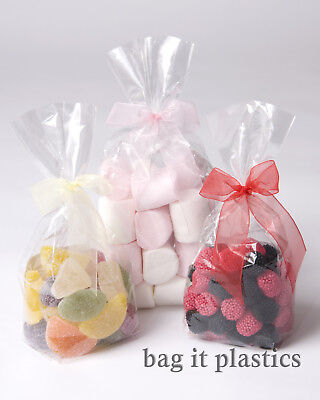 Cellophane Clear Block Bottom Cello Sweet Candy Pick N Mix Bags Bag Food Safe