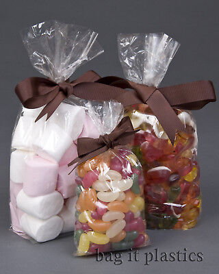Clear Cellophane Sweet Candy Cello Display Pick N And Mix Bag Bags - Food Safe