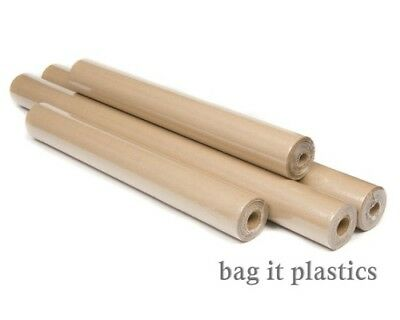 BROWN KRAFT PARCEL ROLLS WRAPPING ROLL PAPER 500mm & 750mm wide - various length