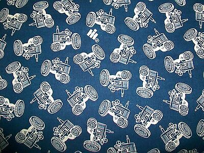 All Over Farm Tractor Toss Cotton Fabric