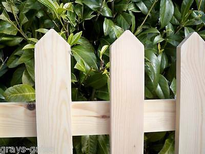 TRADITIONAL - 'PLANED SMOOTH' Wooden Picket Fence Panels - All Sizes Available