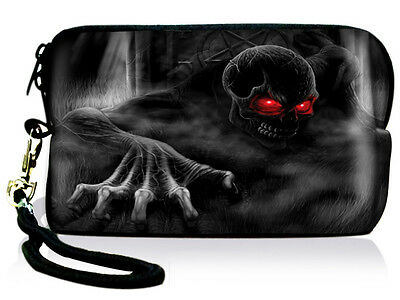 Skull Universal Digital Camera Cellphone iPod iPhone Case Bag Pouch Cover+Strap