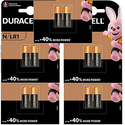 BOX of 10 DURACELL N LR1 MN9100 E90 AM5 KN Alkaline Batteries