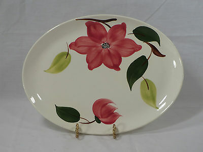 VTG Southern Potteries Stetson Rio Handpainted Meadow Rose Meat Serving Platter