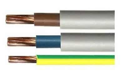 Blue & Brown 16mm & 25mm Double Insulated Tails & 16mm Earth Price Per Meter