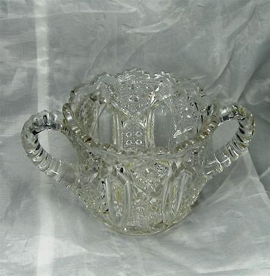 EAPG - McKee Glass Company Quintec Pattern 3-1/2 Inch Open Sugar Bowl