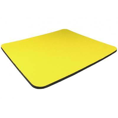 YELLOW 5mm Fabric Mouse Mat Pad Black Blue Green Grey Red Yellow Pink * 3 FOR 2