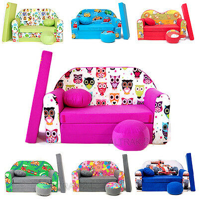 ★★★ Kindersofa KIDS SOFA Couch 3in1 + Kindersessel Kissen Matratze SALE 7% RABAT