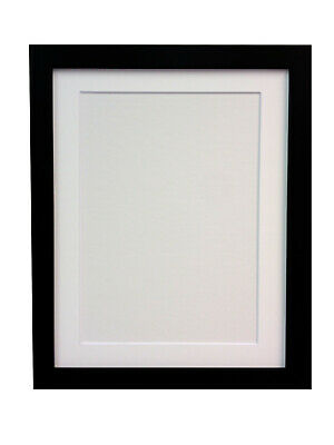 White & Black Large Photo Picture Frames with White Ivory or Black Mounts H7 MDF